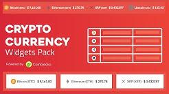 Cryptocurrency Widgets Pack - WordPress Plugin
