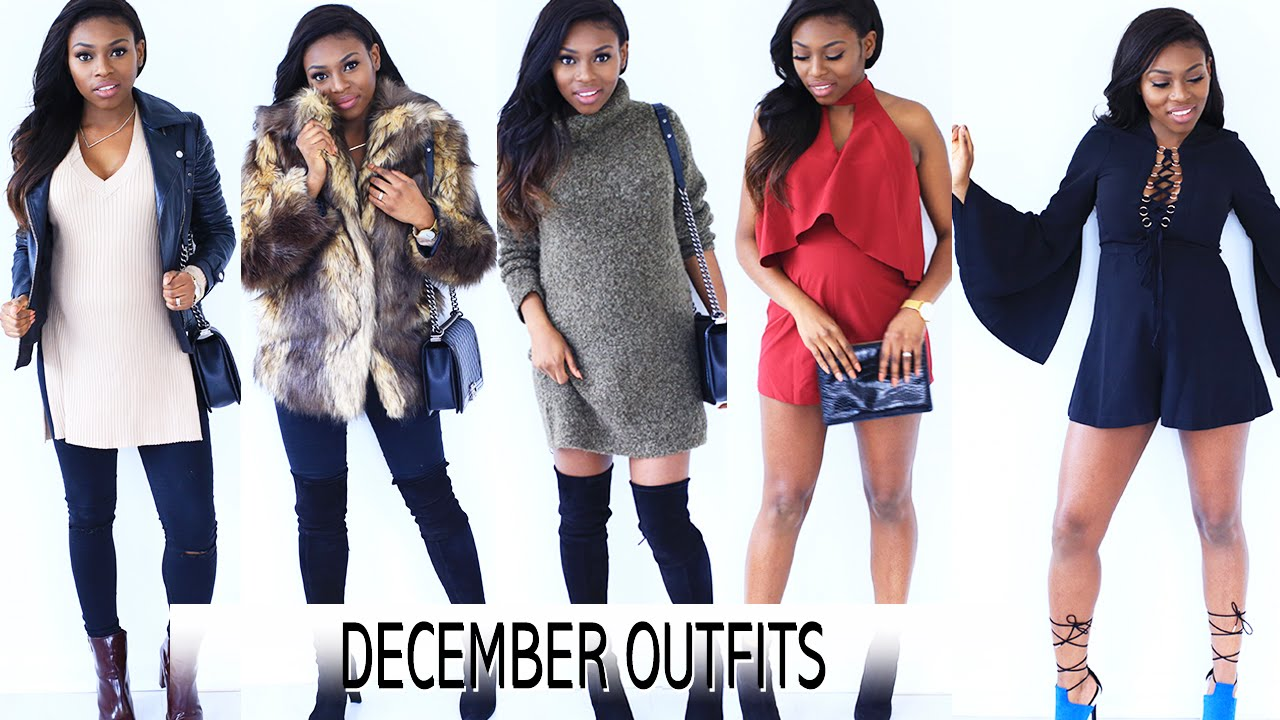December Winter Outfits Day To Night For Nye Party Season Youtube