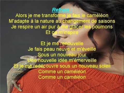 Shy'm - Caméléon lyrics ( paroles )