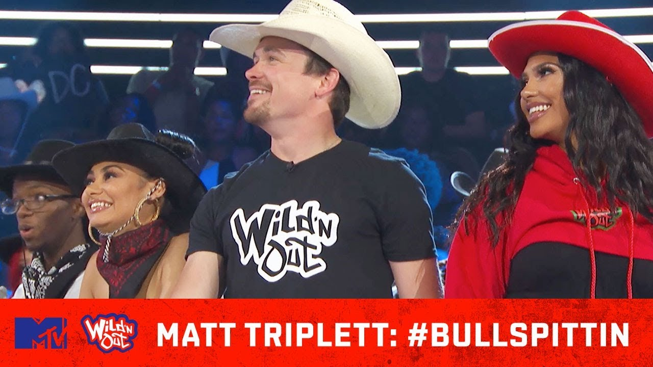 Matt Triplett Attempts To Freestyle While Riding A Bull  🐂 🎶 | Wild 'N Out | #Bullspittin