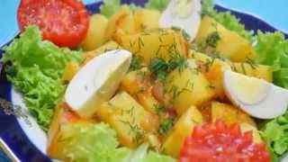 Домашние видео рецепты  - молодой картофель в соусе в мультиварке
