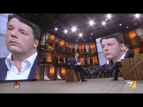 Matteo Renzi ospite a Di Martedì intervistato da Giovanni Floris