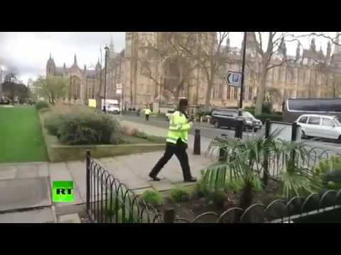Go! Go Away!' First moments of police locking down Westminster following attack