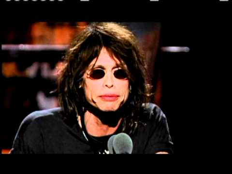 Steven Tyler inducts AC DC Rock and Roll Hall of Fame inductions 2003