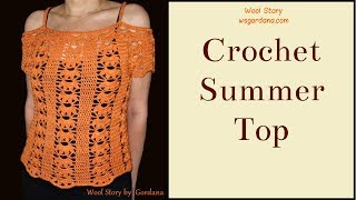 How to crochet a Summer Top (Heklana bluza)