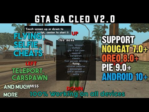 (No Root)(15MB)How To Install Cleo Mod,Cheats In Gta San Andreas For Android 100% Working (Hindi)