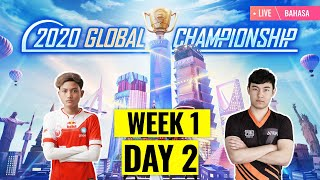 [Bahasa] PMGC 2020 League W1D2 | Qualcomm | PUBG MOBILE Global Championship | Week 1 Day 2