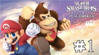 Super Smash Bros. Ultimate Playthrough Part 1 - Mario & Donkey Kong Classic Mode, Training & Spirits