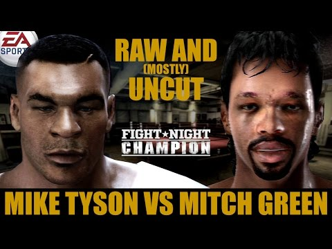 Mike Tyson Vs Mitch Green ★ Tyson Raw And [Mostly] Uncut ★ Full Fight Night Champion Simulation