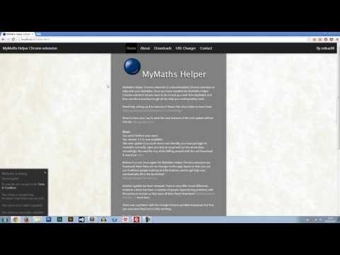 MyMaths Helper Chrome Extension