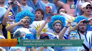 Uruguay 2014 himno nacional en el partido Uruguay 1 - Italia 0