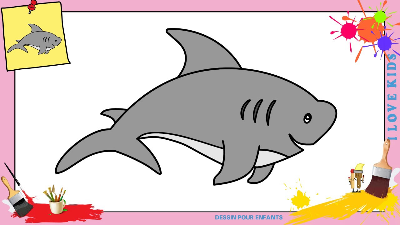 Dessin requin facile comment dessiner requin facilement etape par etape youtube - Requin a dessiner ...