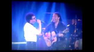 Amaury Gutiérrez y Andrés Cepeda cantando a dúo en La Voz Colombia