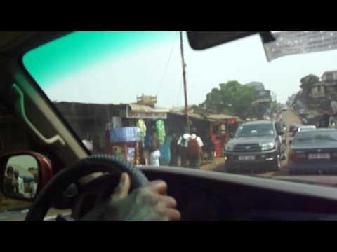 Driving through a desperate part of Freetown, Sierra Leone