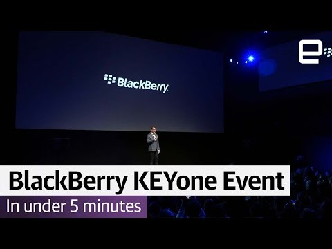 BlackBerry KEYone Event in Under 5 Minutes | MWC 2017