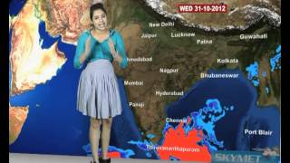 Skymet Weather Report - India October 30, 2012