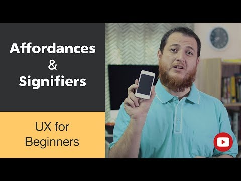 UX for Beginners → Affordances and Signifiers explained with examples