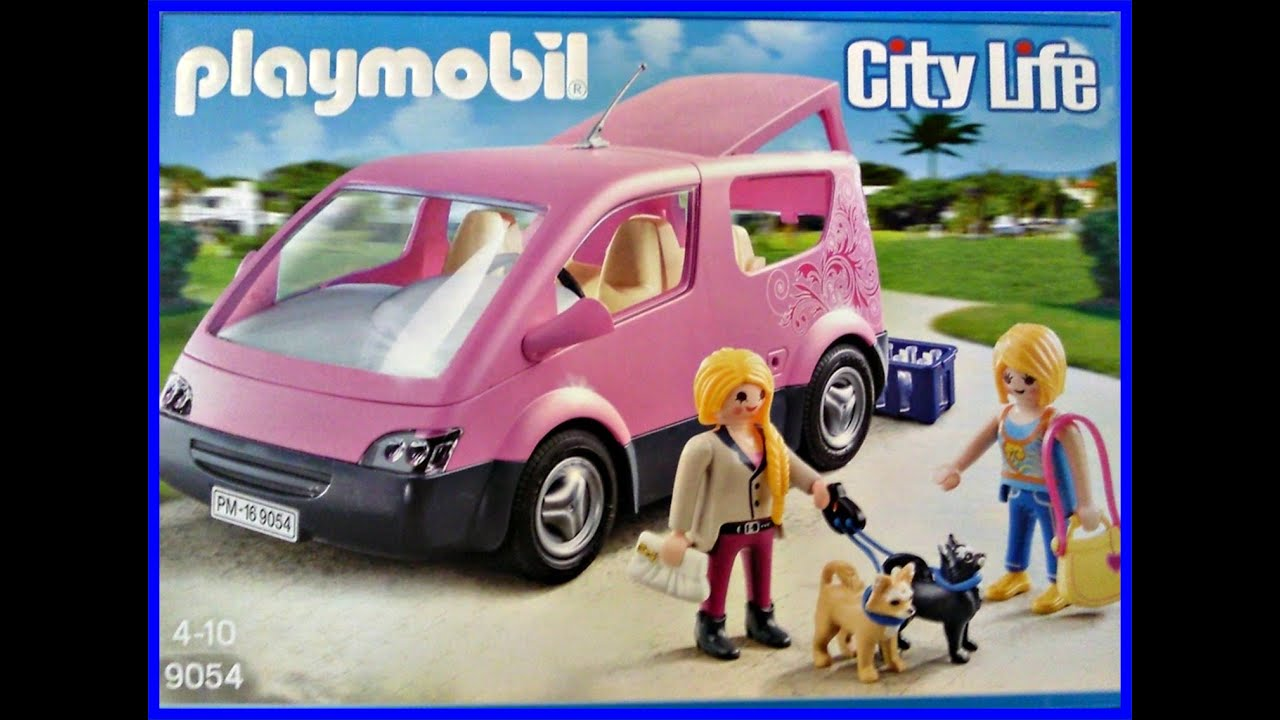 playmobil 9054 city van demo aufbau unboxing youtube. Black Bedroom Furniture Sets. Home Design Ideas