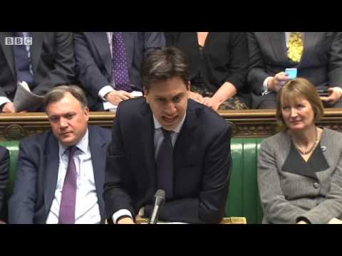 PMQs: Miliband on Camerons 'Terrible Error of Judgment' Over Miller 09/04/2014