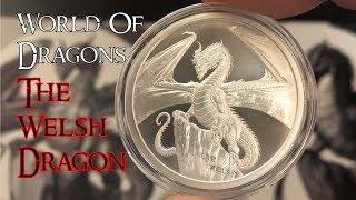 World of Dragons - The Welsh Dragon Silver Round