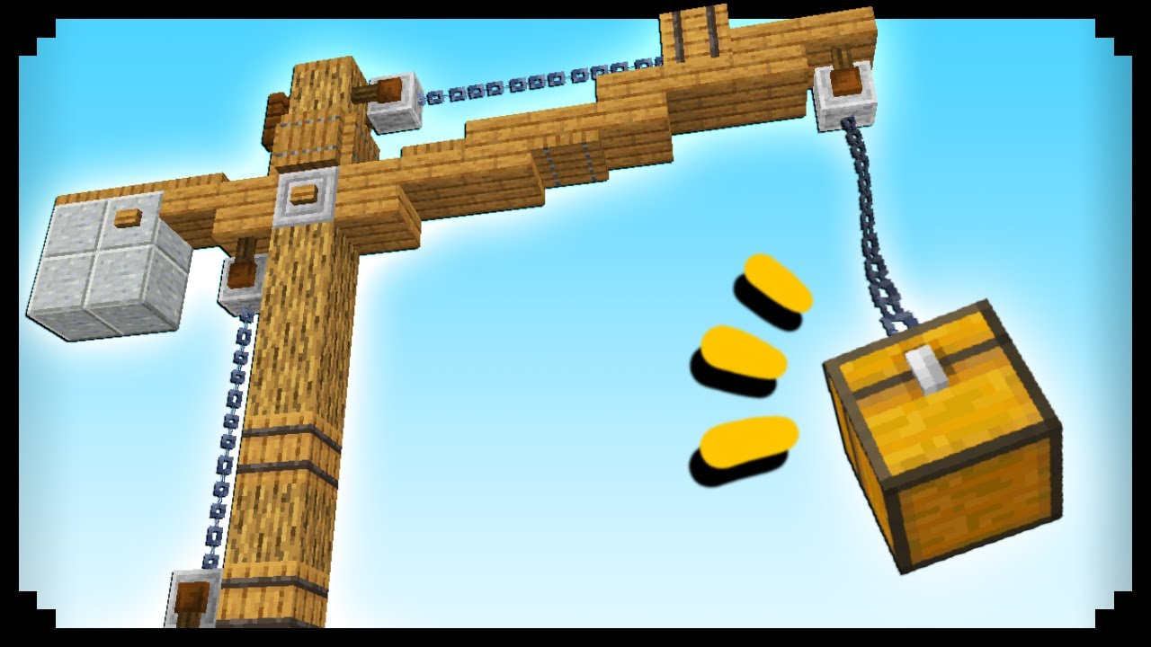 ✔ How to Make a Crane in Minecraft