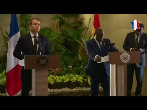 Press conference by the Presidents of Ghana and France in Accra