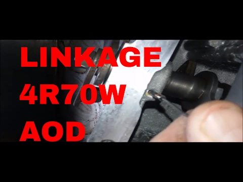 How to remove linkage pin AOD 4R70W 4R75W Mustang F150 Automatic  Transmission