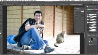 How to merge photos realistically in Photoshop CS6 tutorial