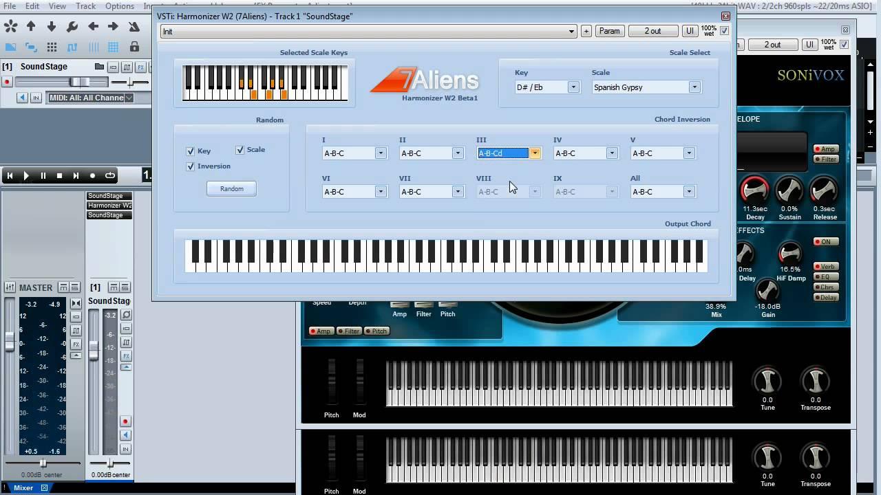 7Aliens MIDI W2 Harmonizer Beta Preview