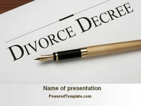 Divorce Decree PowerPoint Template by PoweredTemplate.com