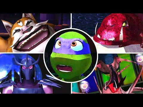Nickelodeon Teenage Mutant Ninja Turtles All Bosses | Boss Fights  (X360, Wii)