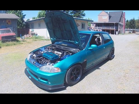 GOT VTEC? Civic EG Hatch stock B16a (te37)