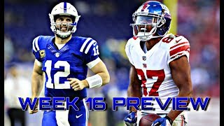 New York Giants vs Indianapolis Colts Week 16 NFL Preview