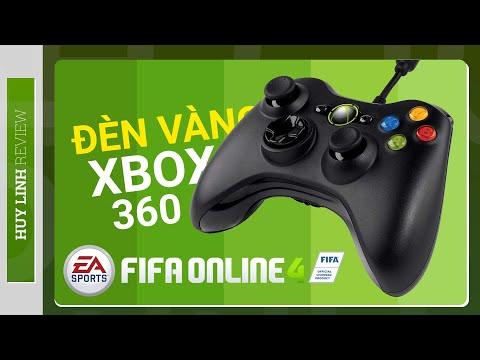 Tay cầm Xbox 360 cho PC/Đèn vàng/Hướng dẫn test trước khi mua chơi trên Fifa Online 4