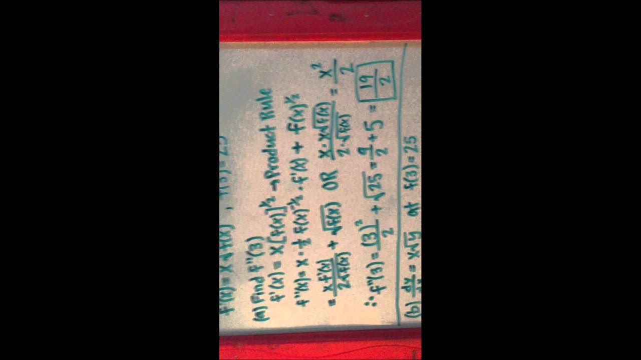 2003 AP Calculus AB FRQ (Form B) - YouTube