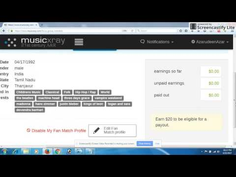 Earn money from online musicxray $15 per hour