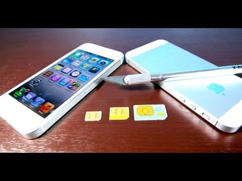 How To Cut Micro Sim & Make Nano Sim for iPhone 5 Free & Easy! Mini & MicroSim Convert to NanoSim