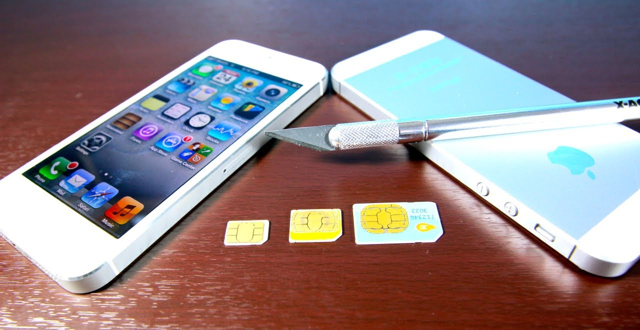 How To Cut Micro Sim Make Nano Sim For Iphone 5 Free Easy Mini