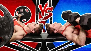Barbell Bench Press VS.  Dumbbell Bench Press | WHICH BUILDS MORE MUSCLE?