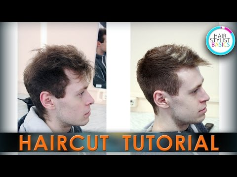 Короткая стрижка с удлиненной челкой Short haircut with