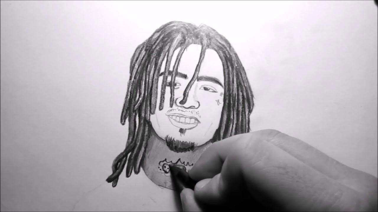 Lil pump drawing realistic drawing black and white ibrahim macir