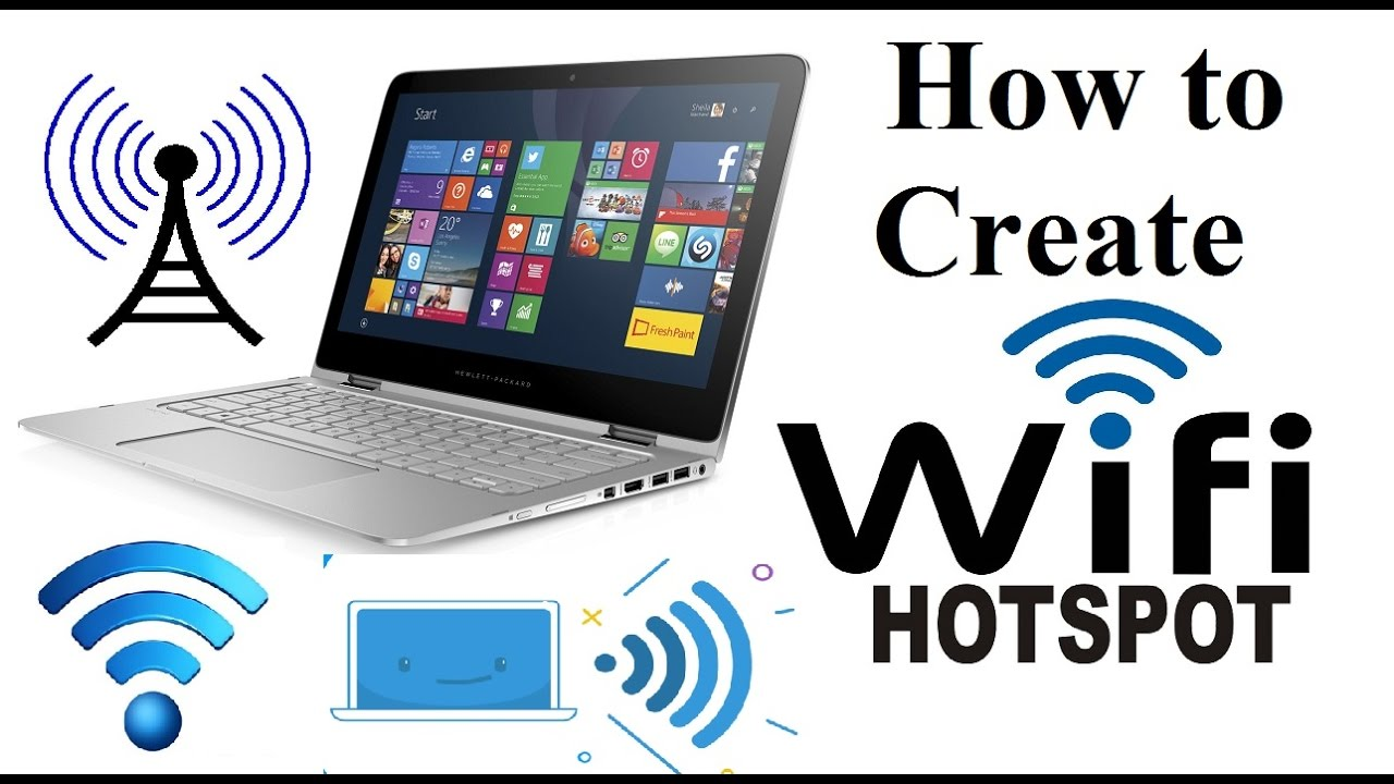 Turn Your Laptop into WiFi Hotspot Easily | Command Prompt (cmd