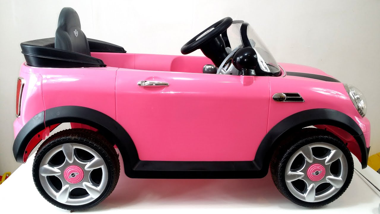 Mini Cooper Safety Rating >> Walk Through Close Up of Pink Mini Cooper Ride On | Fun for Children - YouTube