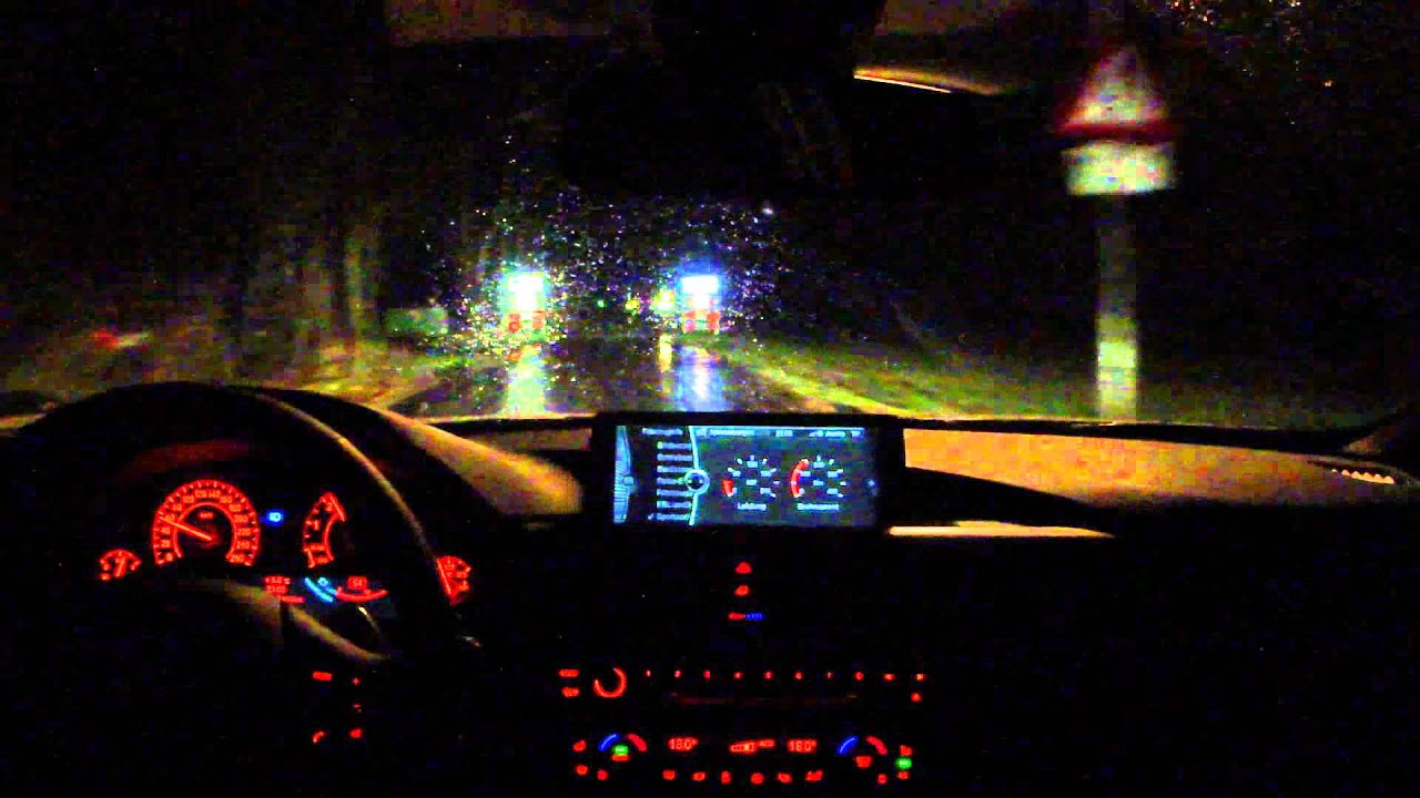 The Co Drivers View Bmw 335i Xdrive At Night Youtube