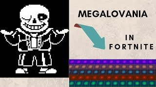 Megalovania played on Fortnite NOTE BLOCKS!