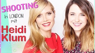 Shooting mit Heidi Klum I LONDON VLOG