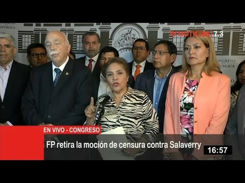 FP retira moción de censura contra Daniel Salaverry