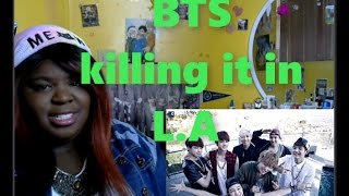 Gambar cover JazzKat reacts to BTS - Boy In Love (LA Version)