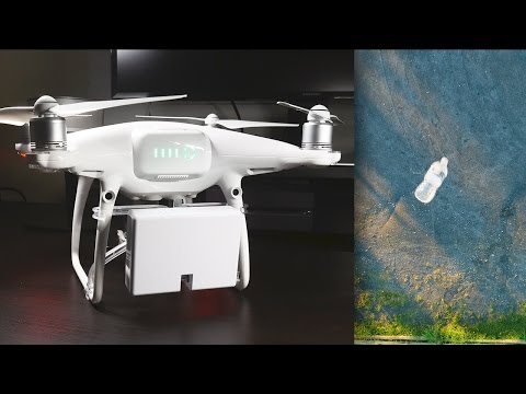DJI Phantom 4 Pro Payload Release System (Lift and Drop Test)
