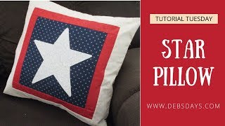 How to Sew a Star Slipcover Pillowcase - Quick and Easy DIY Summer Craft Project